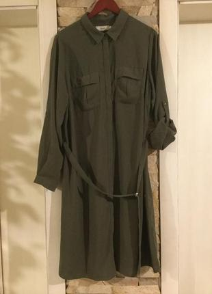 Стильное платье — рубашка с длинным рукавом от бренда zizi.