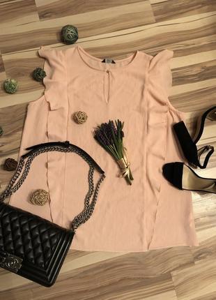 Нежная блуза с «крылышкам»🦋большого размера (великобритания🇬🇧)