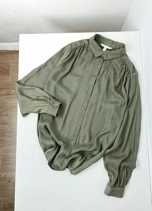 Актуальная атласная рубашка h&m (скидка до 30 мая)