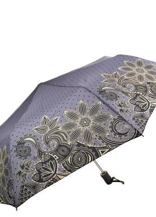 Зонт складной полуавтомат женский artrain 3616 синий