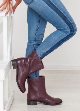 Ботинки кожаные марсала impresa marsala leather