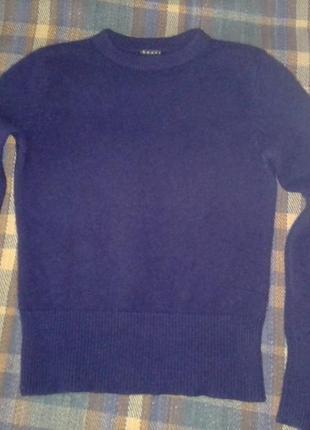 Кашемировые элегантный свитер theory чернильного цвета