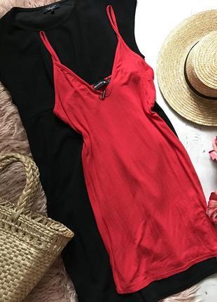 Красное платье-мини(xxs/xs)