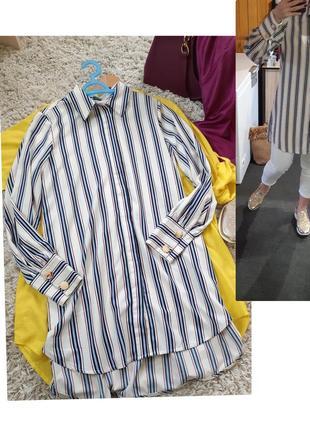 Стильная удлиненная блуза в полоску, liberte, p. 12-14