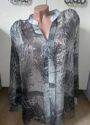 Лёгкая блуза с майкой 48-50разм