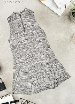 Монохромное платье с молнией new look