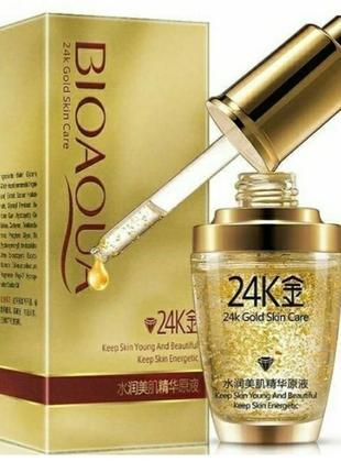 Bioaqua 24k gold сыворотка для лица с частицами золота