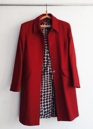 Стильное классическое шерстянное пальто кардиган демисезонное весеннее бренд next