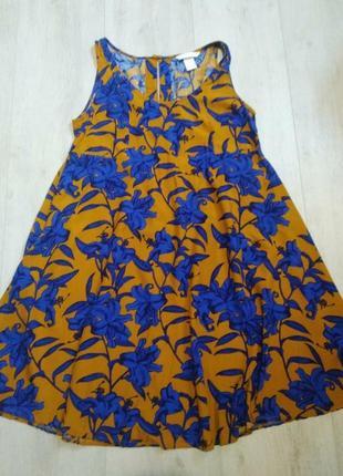Платье, сарафан, платье цветочный принт, саоафан трапеция