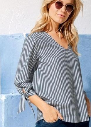 Шикарная , стильная , натуральная блуза  - рубашка от esmara , германия