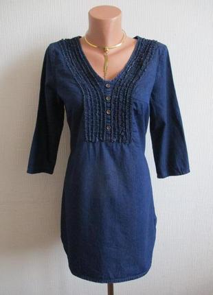 Джинсовая хлопковая удлиненная блуза-туника george