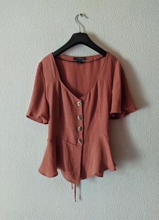 Трендовый топ на пуговицах блуза в винтажном стиле как zara футболка primark винтаж
