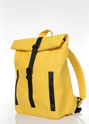 Женский большой желтый рюкзак ролл для путешествий