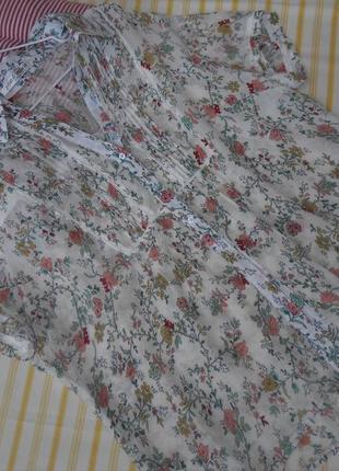 Очень легкая воздушная блузочка на лето  коттон + шелк  44 размер