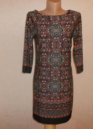Atmosphere замечательное мини платье с красивым принтом, р.12-40, идет на s-m