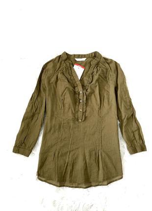 Стильная легкая блузка рубашка s/m promod италия 🇮🇹
