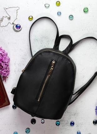 Женский черный рюкзак из экокожи