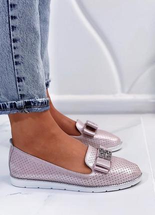 Новые женские розовые  туфли балетки