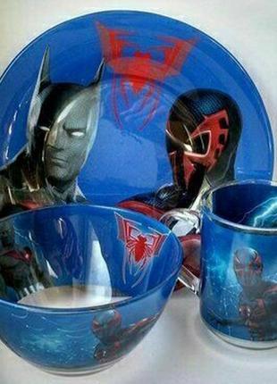 Детский набор посуды бэтмен