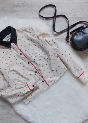 Рубашка в пижамном стиле от asos