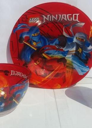 Детский набор посуды ниндзяго