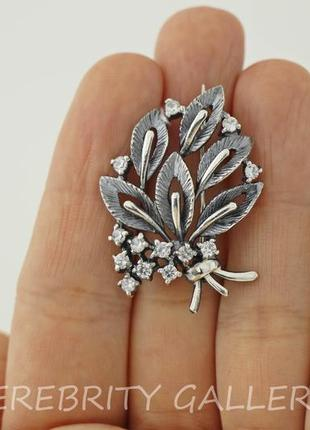 10% скидка подписчику брошь серебряная i 620007 w серебро 925