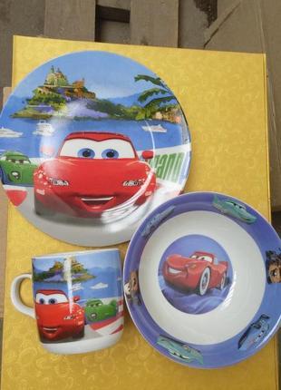 Детский набор посуды тачки маквин