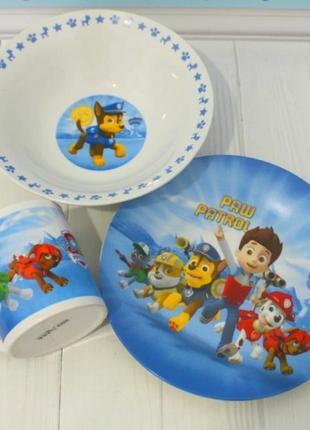 Детский набор посуды щенячий патруль