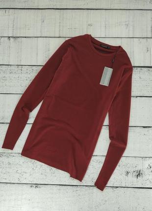 Футболка лонгслив базовый бордовый sorbino (26246)
