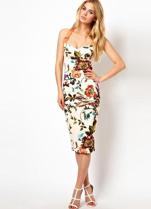 Ted baker amabel миди платье сарафан  премиум бренда в цветочный принт