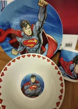 Детский набор посуды супер мен