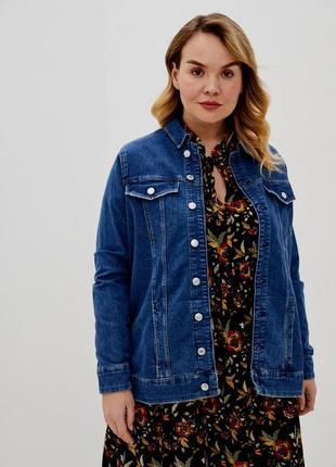 Крутой джинсовый пиджак-куртка размер 22 (54-58)