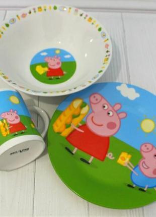 Детский набор посуды пеппа
