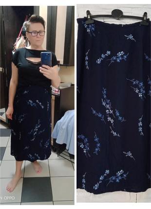 Летняя длинная юбка из натуральной ткани
