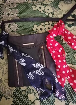 Шифоновый шарфик, лента, повязка на голову, сумку, руку.