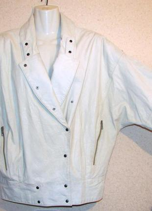 Vero cuoio италия куртка косуха кожа винтаж 90-х цвет-айвори