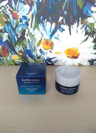 Missha super aqua 10 hyaluronic acid ultra hyaluron cream mini увлажняющий крем