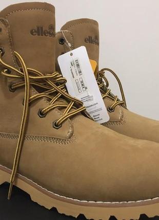 Ботинки ellesse narvik cs leather 46р. нові рижі ботинки, нубук 46р. 30 см.
