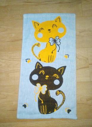 Якісне подвійне полотенце з котиками