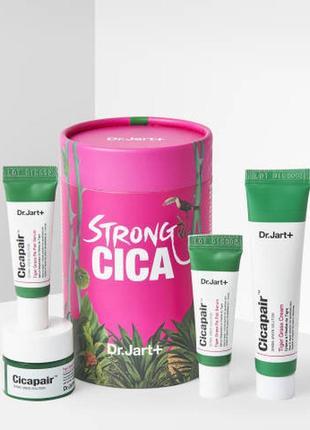 Набор для чувствительной кожи с покраснениями dr jart cicapair strong cica