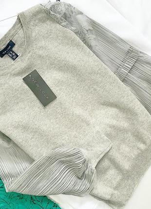 Пуловер свитер new look с ажурными рукавчиками