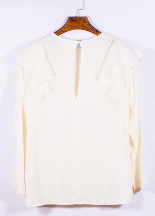 Женская блузка молочная с оборками, модная блузка белая, блуза, жіноча блуза біла2 фото