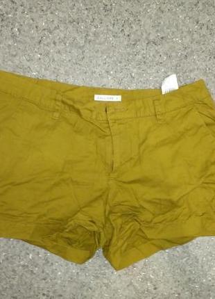 Хлопковые шорты цвета хаки