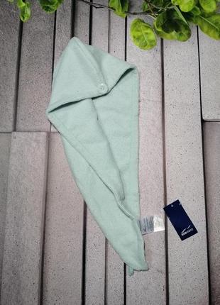 Полотенце тюрбан для волос голубое