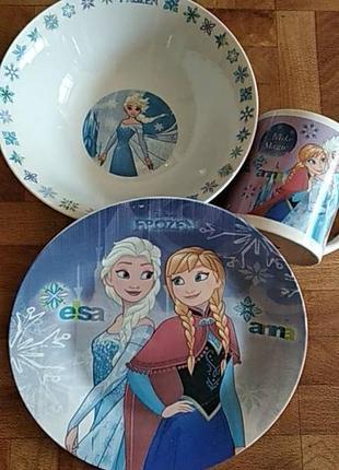 Детский набор посуды эльза, холодное сердце