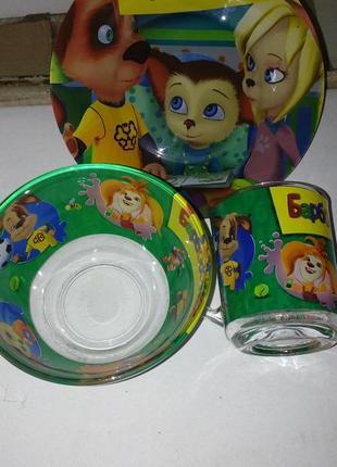 Детский набор посуды барбоскины