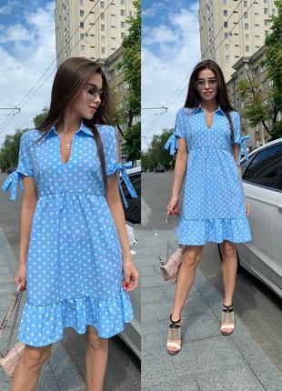 Платье в горошек летнее легкое