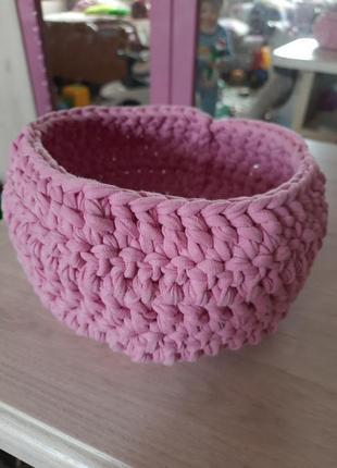Плетеная корзиночка для мелочей