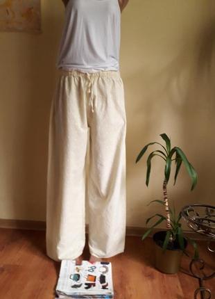 Широкие летние брюки 100%котон