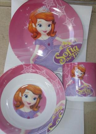 Детский набор посуды софия